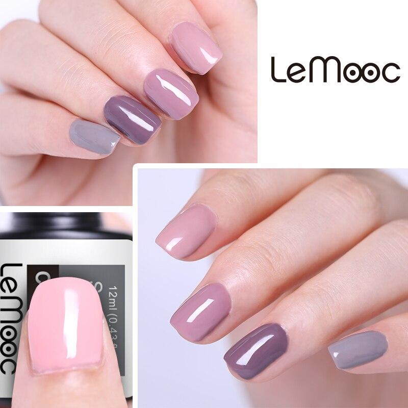 LEMOOC 8ml Pink Nail Gel Polish Purple Color Soak Off LED UV LED Gel Varnish Long Lasting Nail Art Lacquer in Nail Gel from Beauty Health