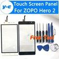 Zopo hero 2 touch screen de alta qualidade 100% novo digitalizador de toque de vidro substituição do painel para zopo hero 2 em estoque