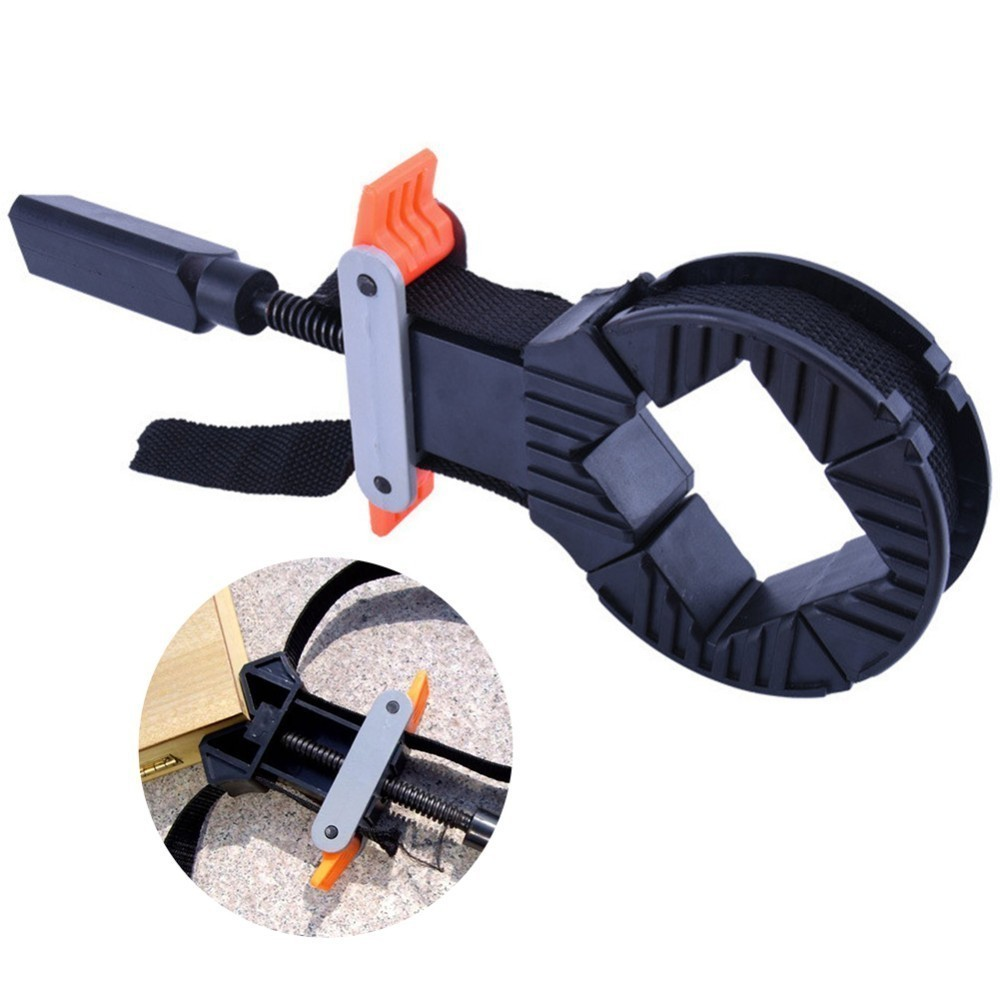 Multifunction 4 Jaws Corner Clamps Adjustable Rapid Strap Band For Woodworking Photo FrameMultifunction 4 Jaws Corner Clamps Adjustable Rapid Strap Band For Woodworking Photo Frame