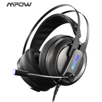 New Mpow EG4 Wired Gaming Headset With 50mm Driver Diameter 2 2m 7 21ft USB Audio