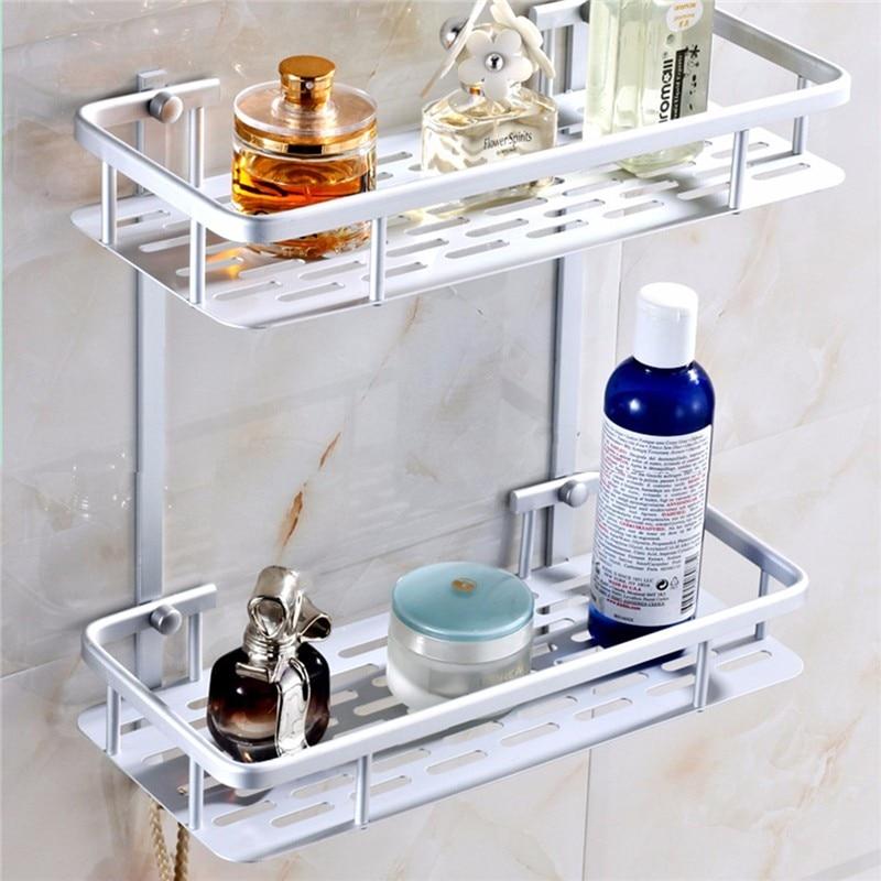 3 Layers Aluminium Bathroom Shower Rack Hanging Cosmetic Make Up ...