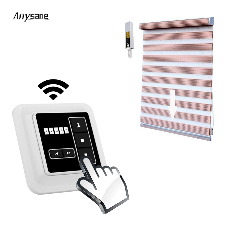 Universal motorized curtain remote control controller wall switch 433.92 RF transmitter wireless relay receiver home automation