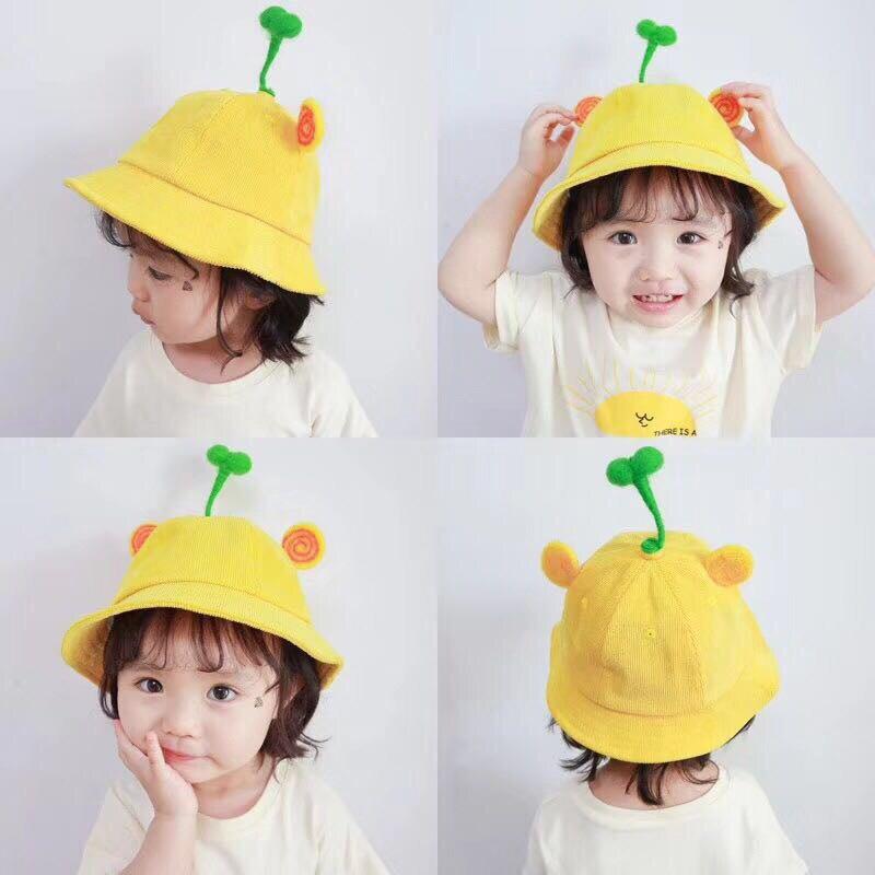 Kids Hat Cute Bean Sprouts Fisherman Hat Baby Boy Girl