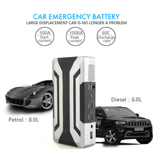 Car Jump Starter 18000mAh Portable Power Bank Car Charger Booster for Petrol 8.0L Diesel 6.0L with 1000A Peak Current все цены