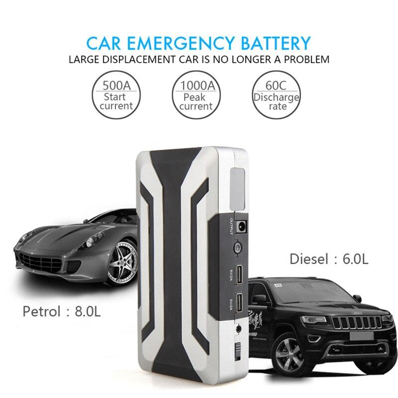 Voiture saut démarreur 18000 mAh Portable batterie externe chargeur de voiture Booster pour essence 8.0L Diesel 6.0L avec 1000A courant de pointe