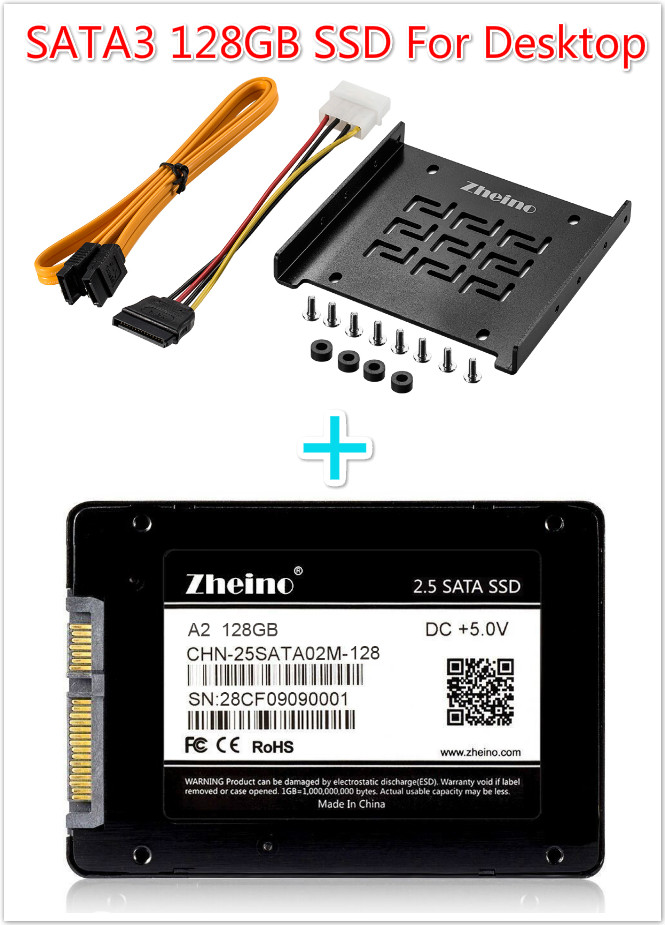 ФОТО Zheino 3.5 SSD SATA 128GB For Desktop 2.5 SSD To 3.5 SSD For Any PC Tower Case Full Aluminum 2.5 To 3.5 Mounting Adaptor Bracket