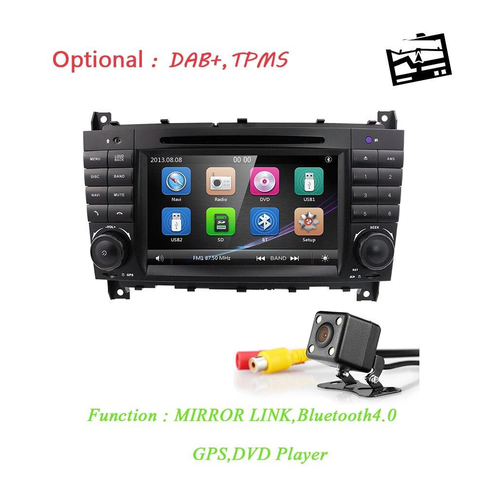 Wince lecteur radio de voiture GPS navi pour mercedes-benz classe C W203 2004-2007/CLC W203 2008-2010/CLK classe W209 2005-2011 mirrorlink