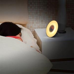 Image 3 - Цветной будильник для спальни новинка RGB LED Sunrise имитация будильника световая лампа fm радио