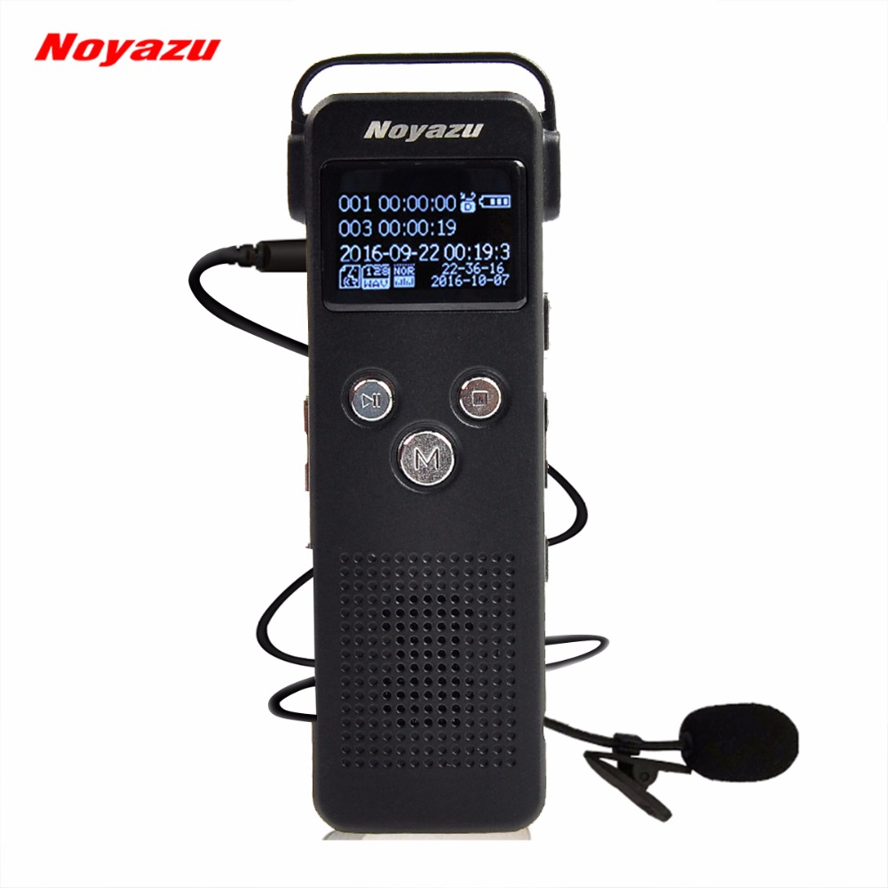 NOYAZU A20 8G Digital Audio Voice Recorder Mp3 Player Sound Recorder Voice Activated Microphone Dictaphone Telephone Recorder high bit rate 1536kbps audio recorder 60m voice recorder 8g time stamp voice activated password digital recorder ape flac player