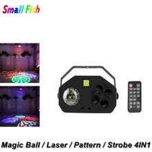 Magic Ball Laser Pattern Strobe 4IN1 Led Disco Light Stage Lights DJ Lumiere Sound Activated Projector Effect