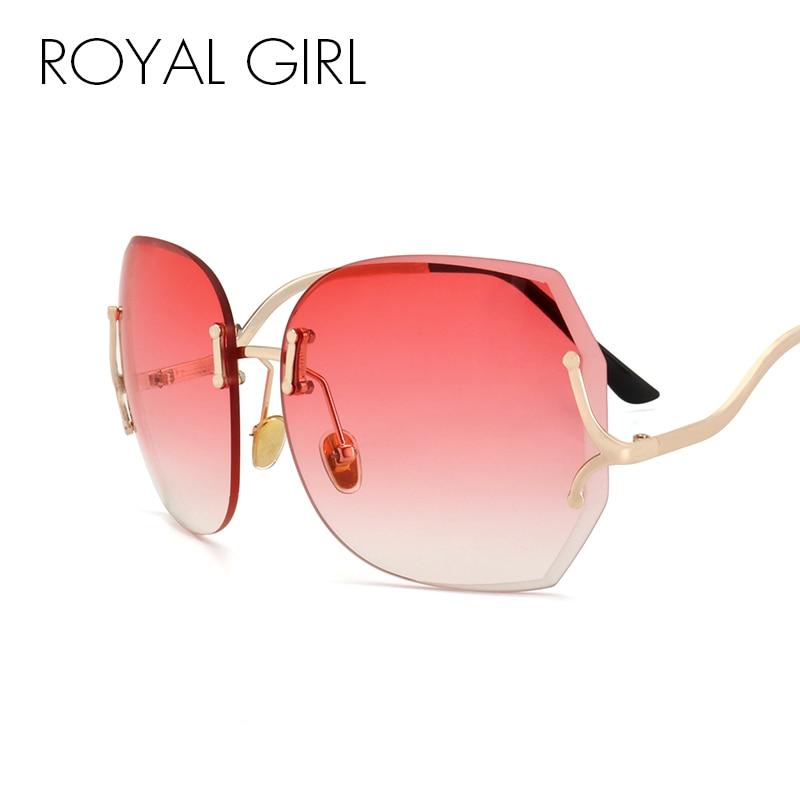 Royal Girl egyedi, nagy méretű, perem nélküli napszemüveg női - Ruházati kiegészítők