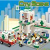 376Pcs Set SimCity Hospitals Emergency Center Building Blocks City Scene Ambulance Task Construction Enlighten Assembe Toys