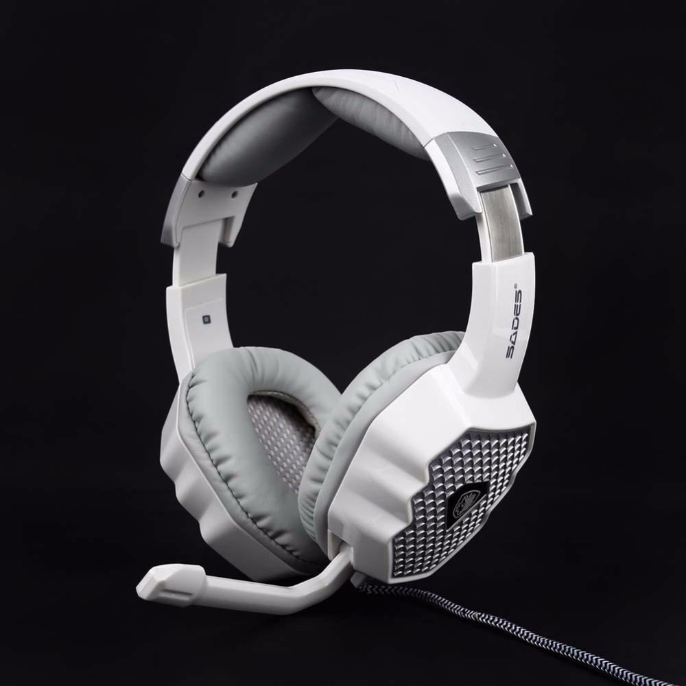 ФОТО 7.1 Surround Sound SADES A70 For PC Gaming Headphones with Microphone White