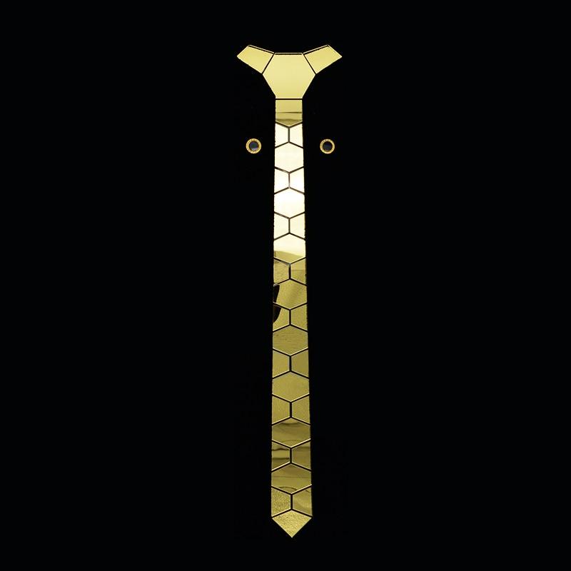 GEOMETIE Brand Handmade Gold Skinny Men Necktie With Luxurious Gift Box ,Buy One Tie Get One Pair Of Cufflinks Free