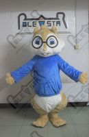 hot sale glass squirrel mascot costumes character chipmunk costume blue, red and green coat