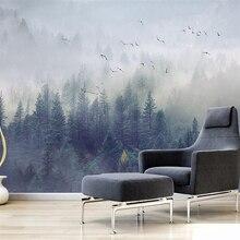 Beibehang Custom wallpaper Nordic fresh forest landscape design TV background wa