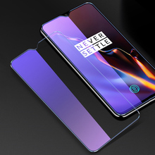 OriWood For Oneplus 6 6T 5 5T Front Full Coverage Anti Blue HD 9H Tempered Glass Anti-blue Purple Light Screen Protector Film