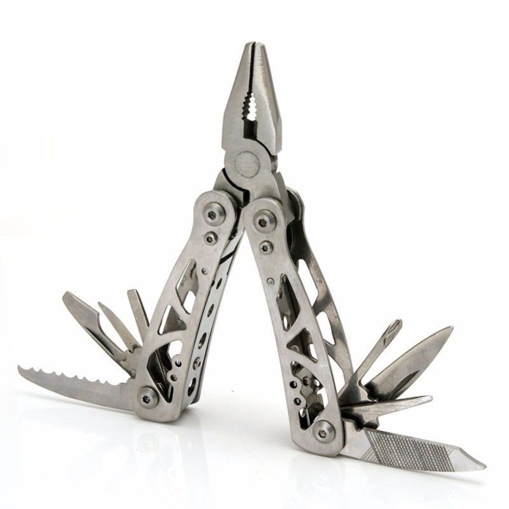 Stainless Steel Folding Portable Multifunction Tool Mini Plier Knife Saw Screwdriver Combination Tool