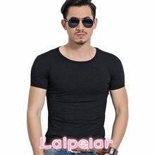 New T-Shirt Men 2018 Fashion Mens T Shirt Short Sleeve Solid Color Slim Fit Casual Male Laipelar