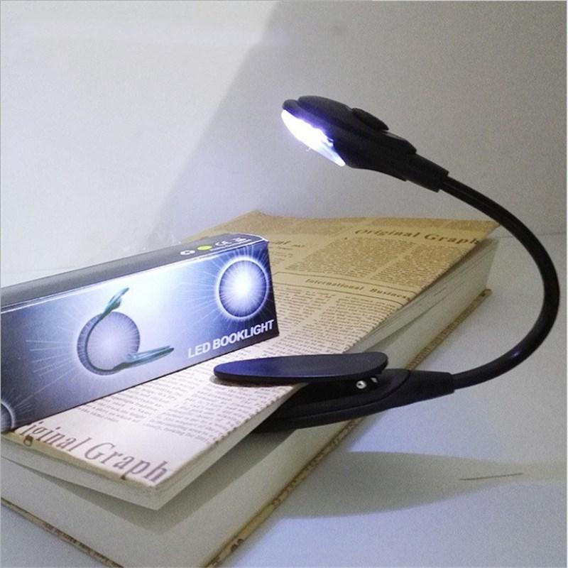 LED livre lumière Mini clipsable Flexible lampe à LED brillante lumière livre lampe de lecture pour voyage chambre livre lecteur cadeaux de noël