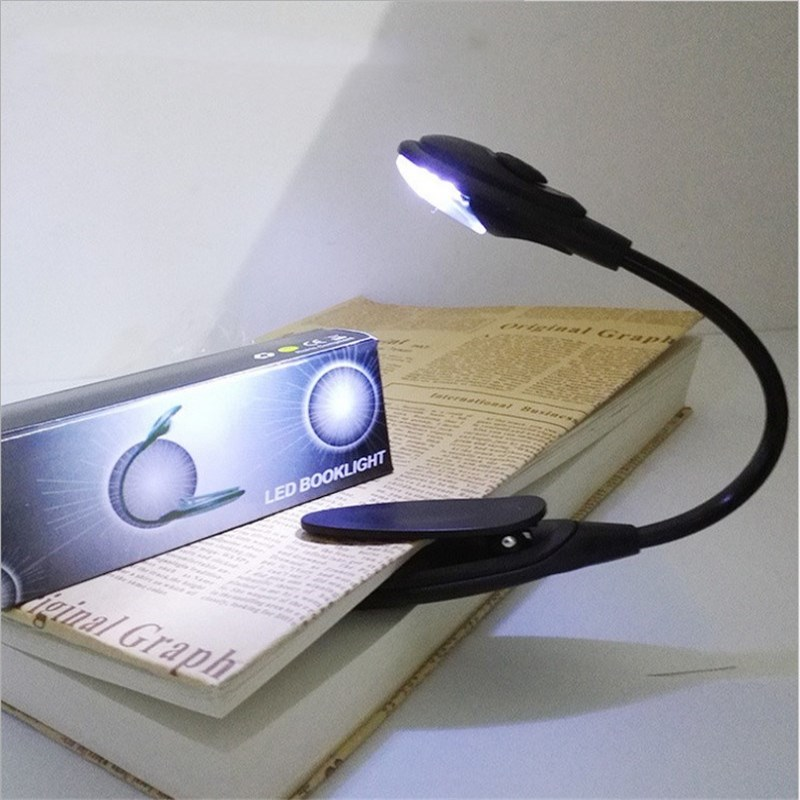 Book Lights Sweet-Tempered Book Light Led Reading Light Lamp Portable Mini Flexible Clip On Desk Light Bright White Travel Light