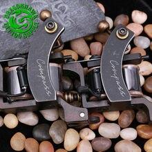 2pcs Professional Compass Tattoo Machine Liner And Shader Steel Frame Copper Coils Tattoo Gun