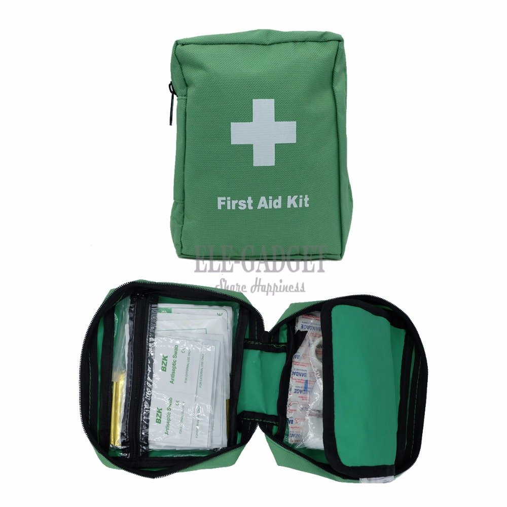 100 Items/Set Outdoor Portable Green Waterproof First Aid Kits For Family Travel Emergency Medical Treatment Band-Aids Kits