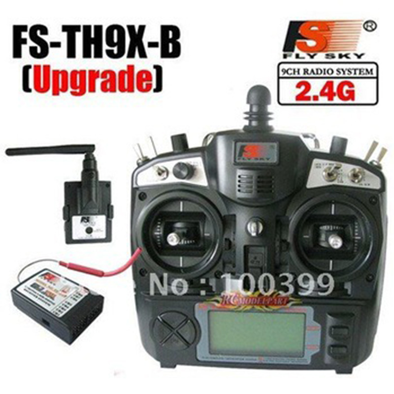 Free shipping+2.4G 9ch system Flysky FS rc radio Transmitter & Receiver Combo 9ch remtoe control FS-TH9X TH9XB TX + RX drone flysky fs t6 2 4g 6ch tx rx fs r6b rc radio control transmitter receiver system