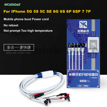 Wozniak for iphone 5g 5s 5c se 6g 6s 6sp 6p 7 7plus Mobile phone Repair Power Supply Boot Cable Battery Circuit protection line