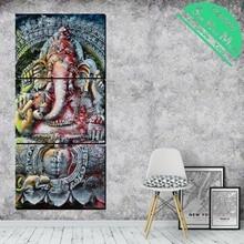 3 Шт. Золотой Сияющий Будда Традиции HD Печатных Холст Картины для Украшения Дома Wall Art Гостиная