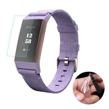 Película protectora transparente antiarañazos para Fitbit Charge 3 4, Charge3, Charge4, cubierta protectora de pantalla completa, 5 piezas
