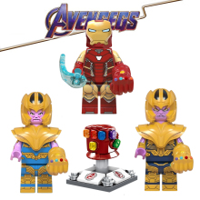 Avengers 4 Endgame Thanos Infinity Gauntlet Iron Man Marvel Playmobil Building Blocks Action Figure Model Children LegoING  Toys
