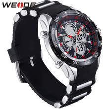 WEIDE Running Sport Watch Men Digital Quartz LED Alarm Silicone Strap 30m Waterproof Man Wristwatch Relogios