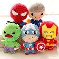 Мстители Плюшевые Игрушки Халк Тор Капитан Америка Ironman Паук Фаршированные Плюшевые Игрушки Мягкие Мягкие Куклы Большой Подарок