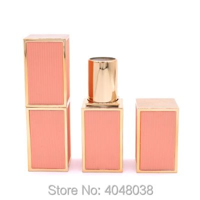 Empty Lip Balm Tube Square Lipstick Tubes 12.1mm White Black Pink Plastic Cosmetic Packaging Lip Stick Containers (3)