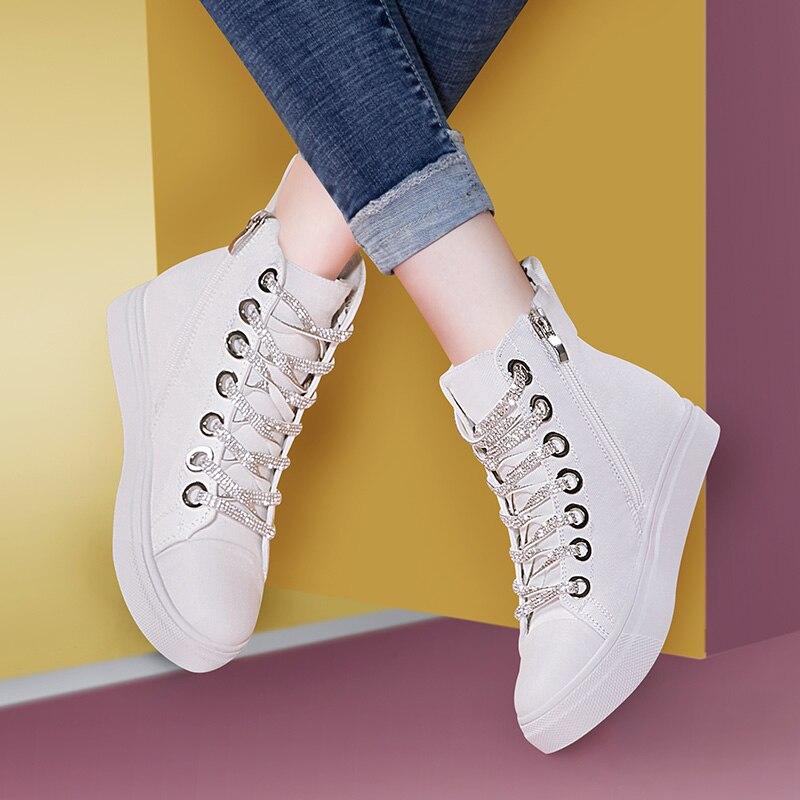 Luxe D'hiver Chaussures Noir Hiver Cheville Produit up Schoenen Mycoron blanc Dames Bottes Femmes Femelle Femme Confortable De Dentelle 74wxwtfqPn