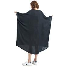 Oladivi Oversized Women Clothing Summer Dress Plus Size Solid Chiffon Shirts Female Casual Large Tops Tees Tunics Shirt Dresses