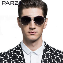 Parzin Polarized Sunglasses Men Women Cutout Frame Large Sun Glasses Male Colorful Driving Glasses With Case 8106