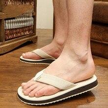 KESMALL/летние мужские вьетнамки размера плюс 48; повседневная обувь на плоской подошве; пляжные сандалии для мужчин; мужские Нескользящие шлепанцы; WS586