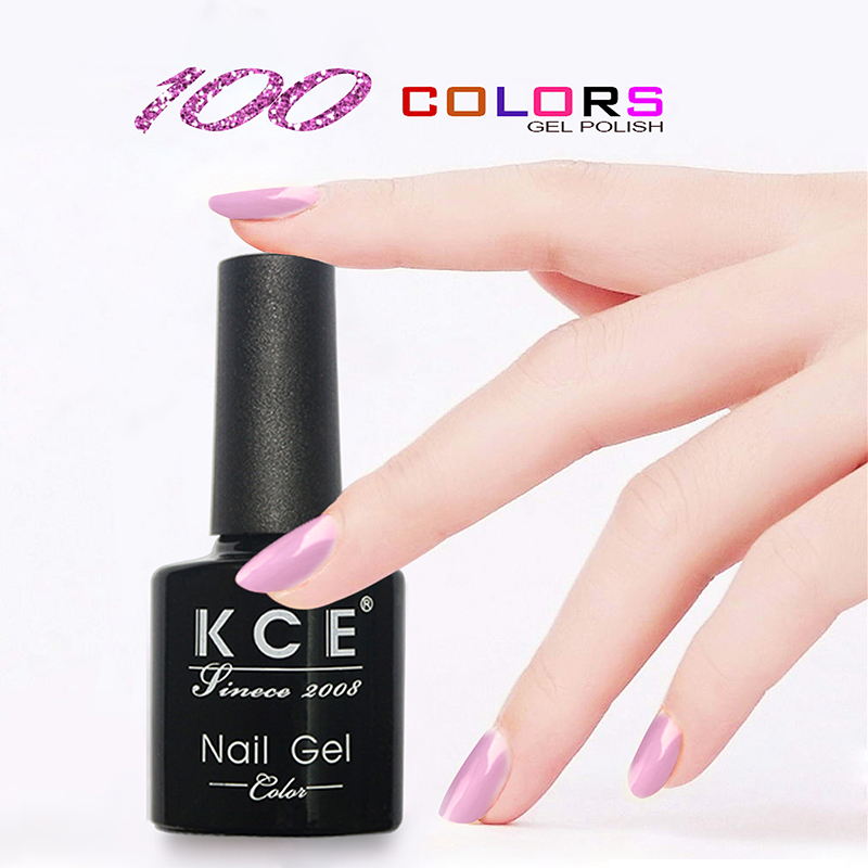 NY KCE Fashion Nail Gel nagellack UV & LED Shining Colorful 100 Colors 8g Långvarig Soak Off Lack Manicure