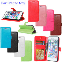 Case For iPhone 6 6S Luxury Wallet Flip Leather Cover For Case iPhone 6 Cell Phone Cases With Credit Card Holder Stand Holster 1