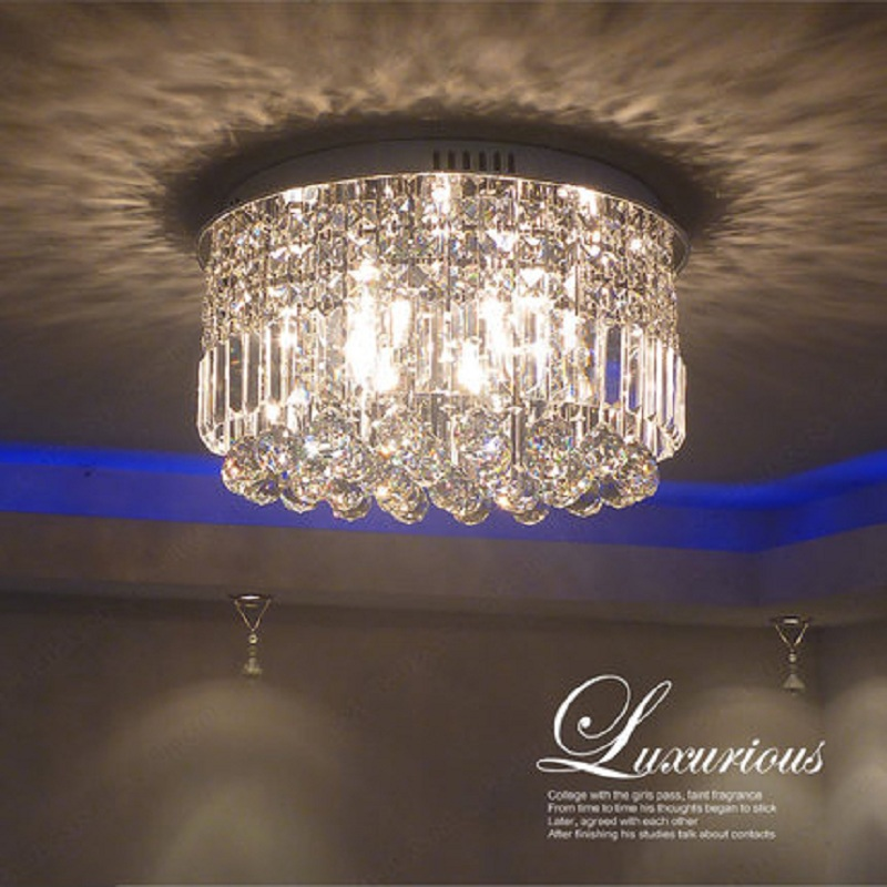 New European round room bedroom kitchen restaurant home garden aisle ceiling crystal lighting LED lamps european standard 25ft home garden flexible natural latex water pipe green