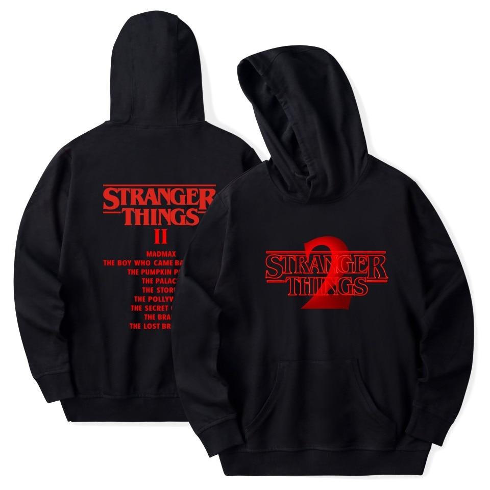 Stranger Things Hoodie 2019 New Hot TV America Sweatshirt Millie Bobby Brown Hoody Men Hip Hop Casual Fashion Hoodies-in Hoodies & Sweatshirts from Men's Clothing