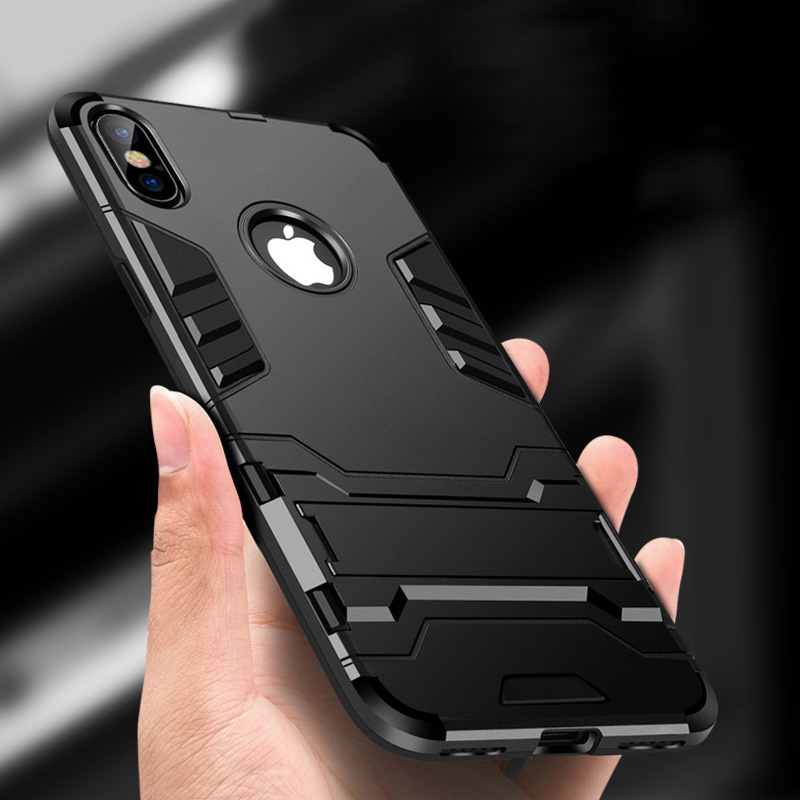 Armor Phone Case For iPhone X 6 6S 7 8 Plus Mobile Shell Personality creativity All-inclusive Back Cover Silicone Hard cases