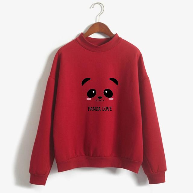 New 2017 Hoody Spring Autumn Long Sleeve Kawaii Panda Printed Harajuku Sweatshirt Women Hoodies Moletom Feminino