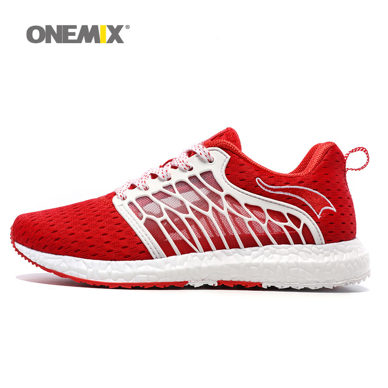 ONEMIX New Woman Running Shoes For Women Light Athletic Trainers Red Zapatillas Sports Shoe Outdoor Walking Sneakers Free Ship new women running shoes super air light sport sneakers trainers walking outdoor athletic jogging lover zapatos de mujer