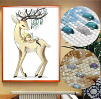 Deer haft zdjęcia prezent diy 5d diament malarstwo mozaika cross stitch zestawy handmade diament wyposażenia domu dekoracji