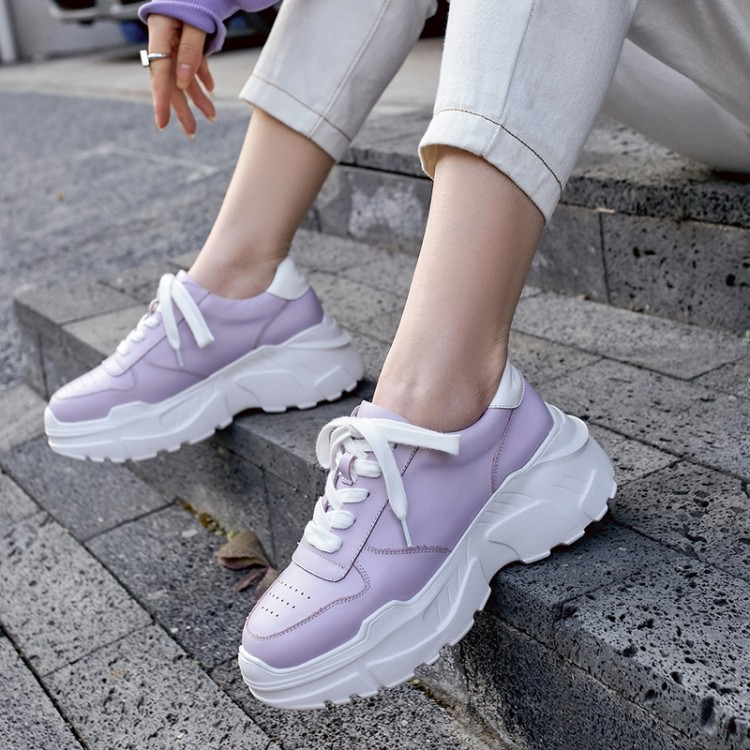 Womens Chunky Sneakers 2098 Fashion Basket femme Women Platform Shoes Lace Up Purple Female Trainers Dad Casual ShoesWomens Chunky Sneakers 2098 Fashion Basket femme Women Platform Shoes Lace Up Purple Female Trainers Dad Casual Shoes