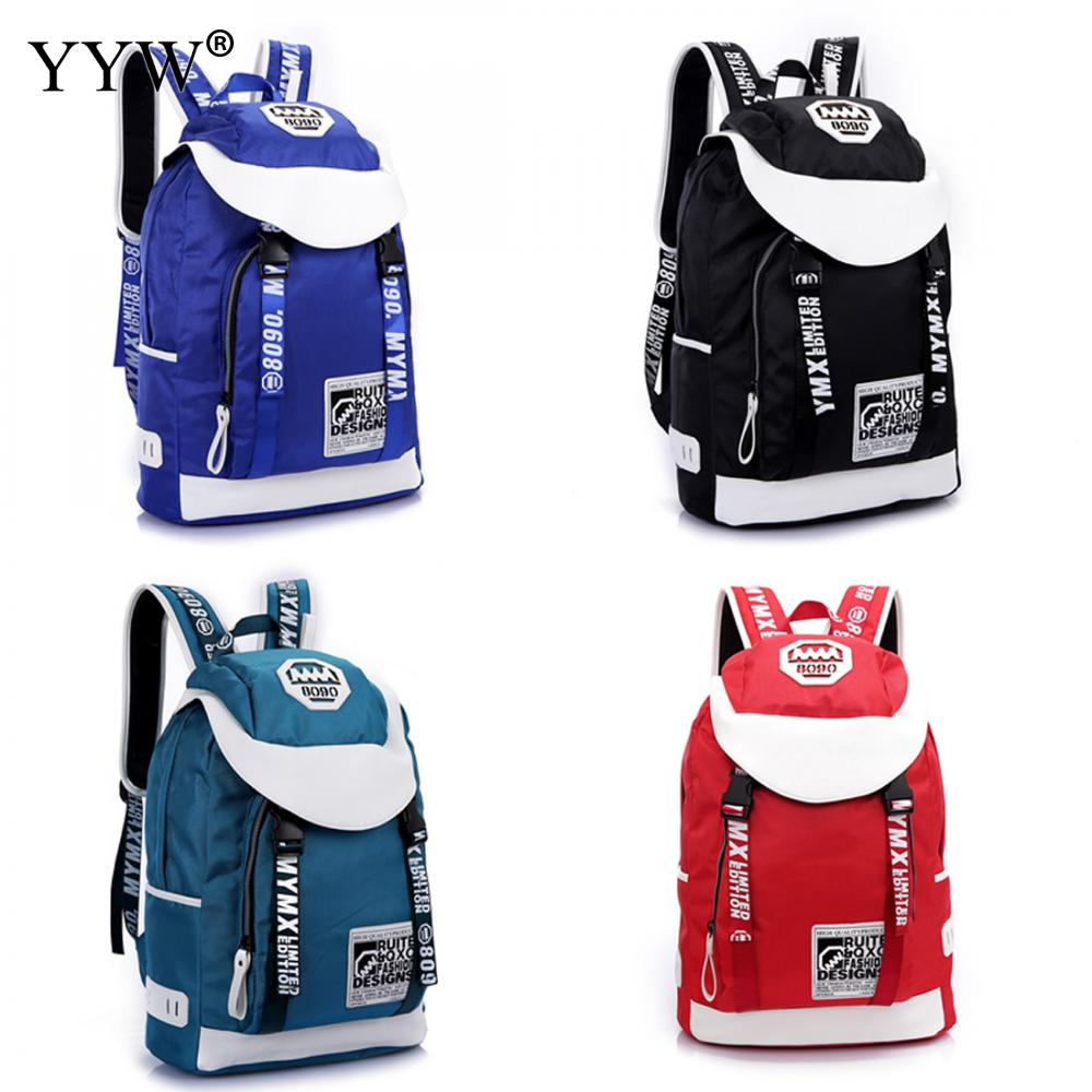 YYW New Korean Tide Summer Canvas Shoulder Women Backpack Letter Travel Bag Man Leisure Package Mochila Unisex рюкзак manbags korean fashion canvas shoulder teenager backpack travel bag