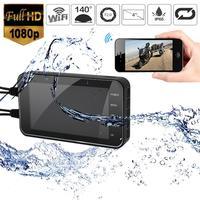 WIFI 1080P HD Waterproof Camera 4 Motorcycle DVR Front Rear Dual Lens Driving Video Recorder Dash Cam Moto Bike FHD Recording